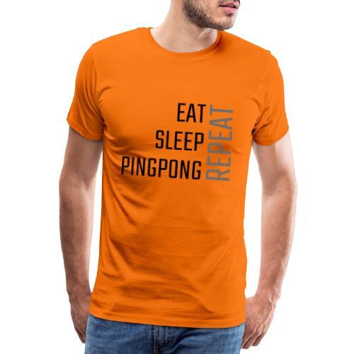 PingPong Repeat - Herre premium T-shirt