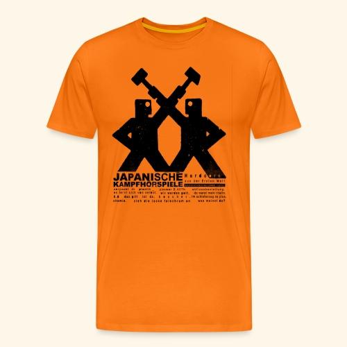 JAPANISCHE KAMPFHÖRSPIELE Hcad1stenW2 png - Männer Premium T-Shirt