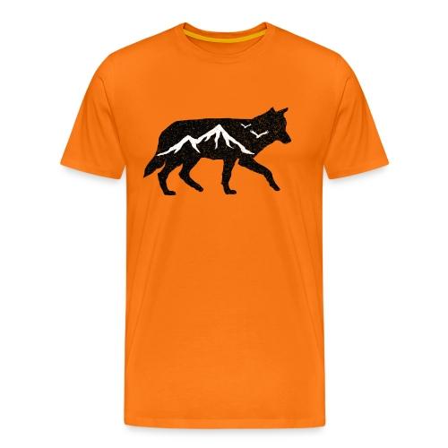 Adventurer Logo - Premium T-skjorte for menn