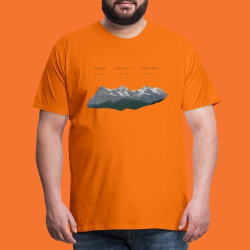 Eiger Mönch Jungfrau LP - Männer Premium T-Shirt