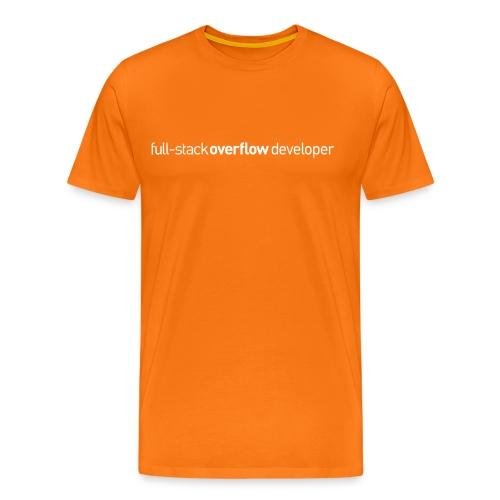 full-stack-overflow-flat - Mannen Premium T-shirt