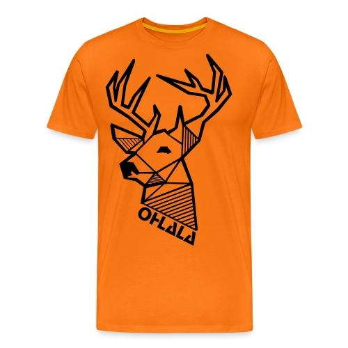 Zweiseitig bedruckt - Hirsch vorne - Logo hinten - Männer Premium T-Shirt