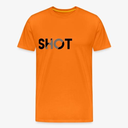 Shot contrast text - Men's Premium T-Shirt