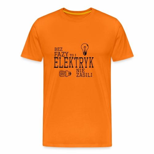 elektryk png - Koszulka męska Premium