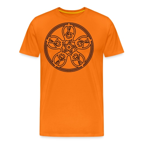 CELTIC CLEF MANDALA (black outline) - Men's Premium T-Shirt
