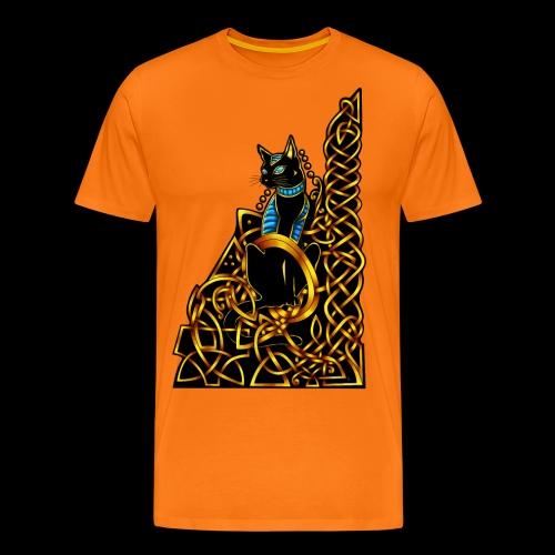 Celtic Cat - sitting - Men's Premium T-Shirt