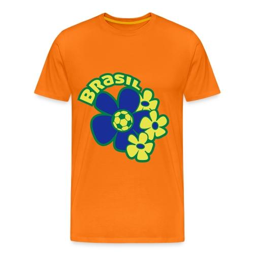 Voetbal Bloem Brazilie - Mannen Premium T-shirt