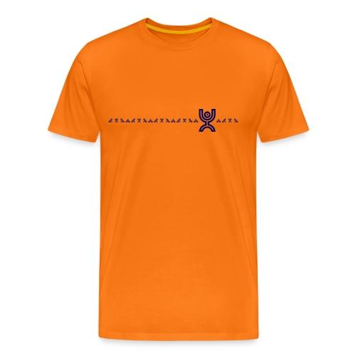 Monkey Line Blue - Men's Premium T-Shirt