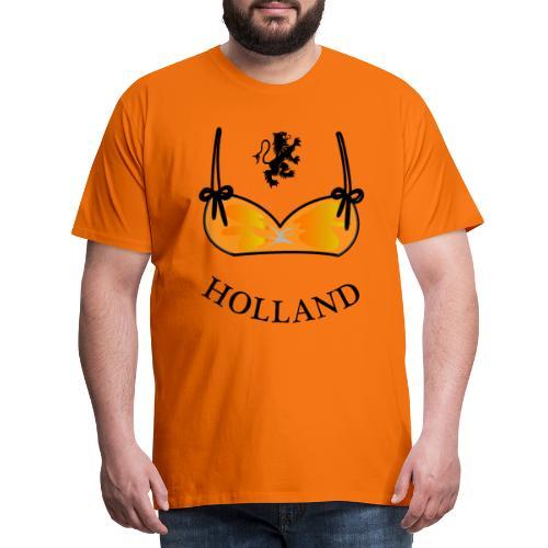 Voetbal Bikini Nederlandse Leeuwin Oranje - Mannen Premium T-shirt
