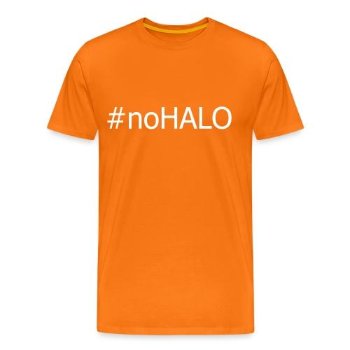 #noHALO white - Men's Premium T-Shirt