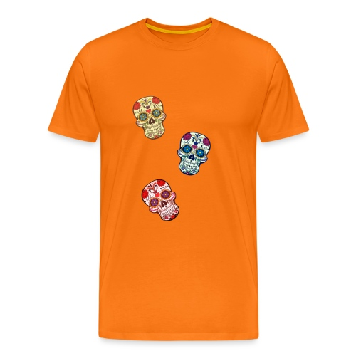Triple Sugar Skull - Men's Premium T-Shirt