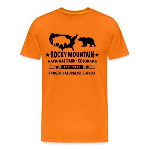 Rocky Mountain Nationalpark Berg Bison Grizzly Bär - Men's Premium T-Shirt