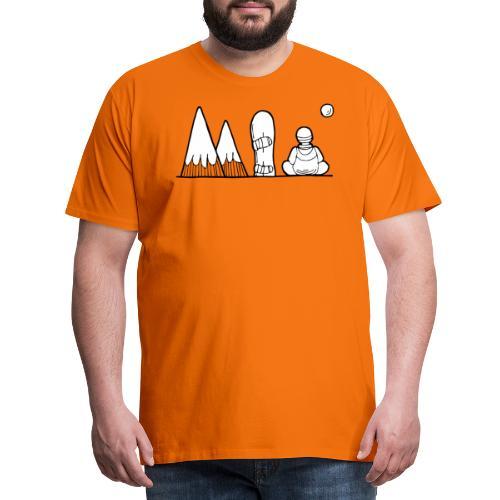 snowboard et montagnes - T-shirt Premium Homme