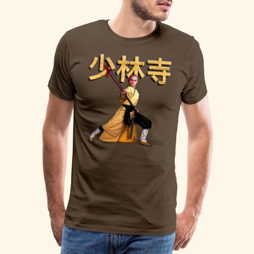 Shaolin Warrior Monk - Mannen Premium T-shirt
