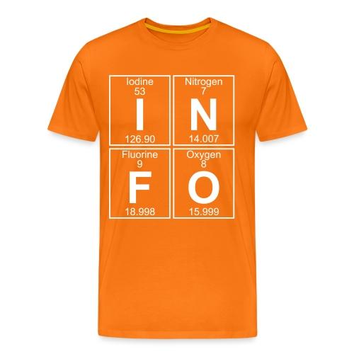 I-N-F-O (info) - Full - Men's Premium T-Shirt