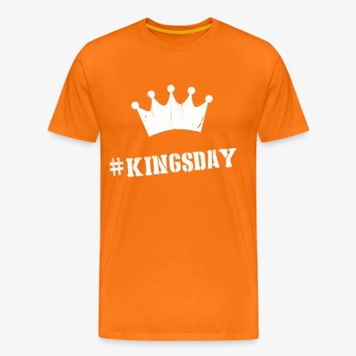 Hashtag Kingsday - Mannen Premium T-shirt