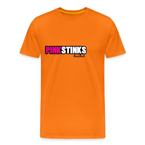 pinkstinksorg orange logo - Men's Premium T-Shirt