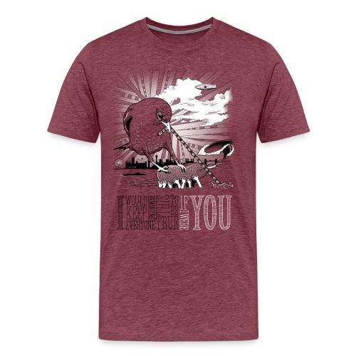 IfIWereYou print3 png - Herre premium T-shirt