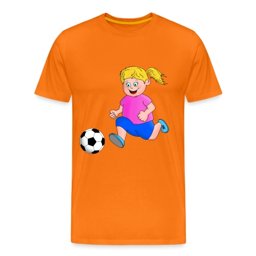 Fußball Mädchen - Männer Premium T-Shirt