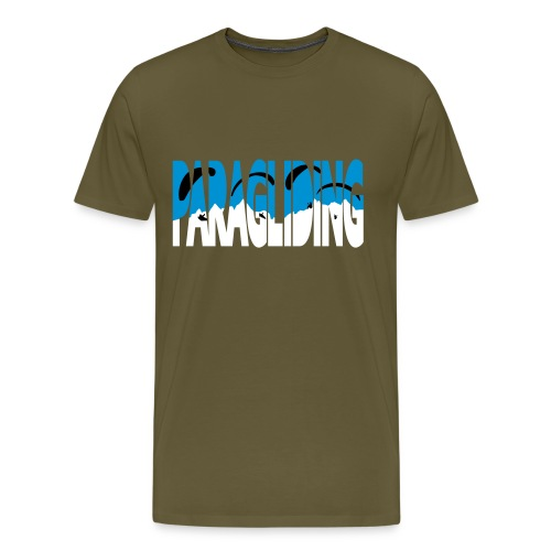 Paragliding Letters - Men's Premium T-Shirt