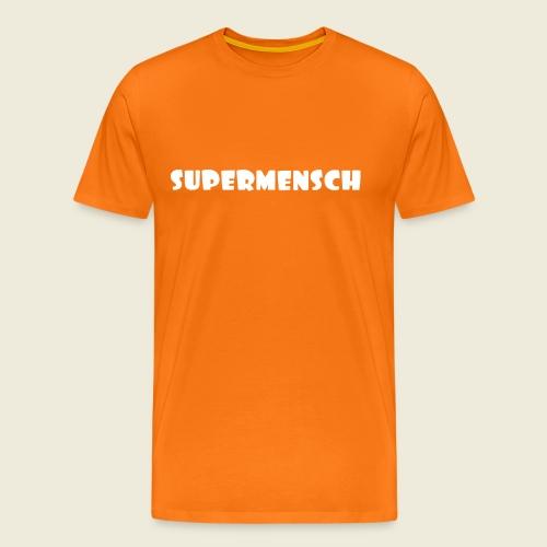 Supermensch in weiß 2 - Männer Premium T-Shirt