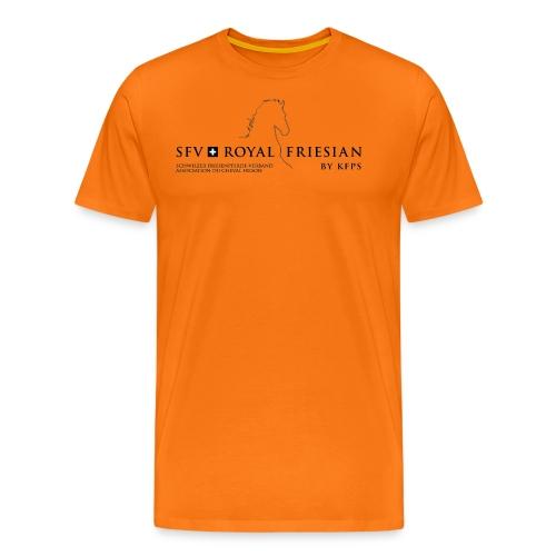SFV Royal Friesian Schwarz Transparent - Männer Premium T-Shirt