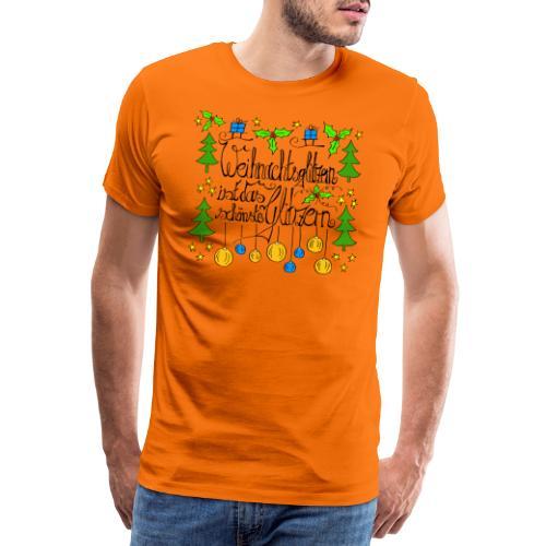 Weihnachtsglitzern - Männer Premium T-Shirt