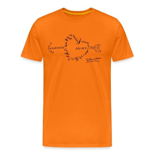 calligramme_fleche_saignante - T-shirt Premium Homme