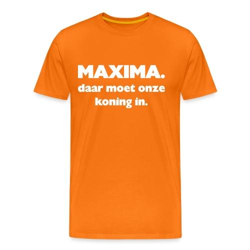Maxima daar onze Koning in - Mannen Premium T-shirt