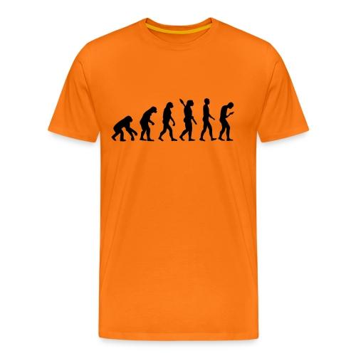 Development of the smartphone zombie / smombie - Men's Premium T-Shirt