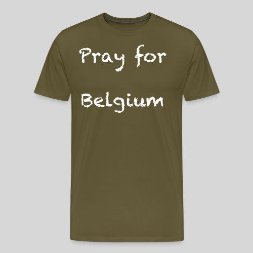 Pray for Belgium - T-shirt Premium Homme