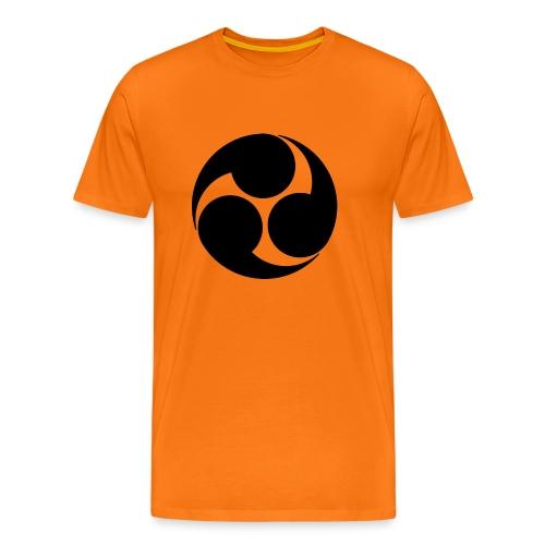 Kobayakawa Mon Japanese clan black - Men's Premium T-Shirt