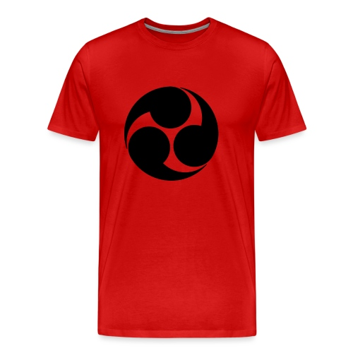 Kobayakawa Mon Japanese clan black - Men's Premium T-Shirt