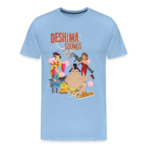 Deshima Sounds 10 2013 - Mannen Premium T-shirt