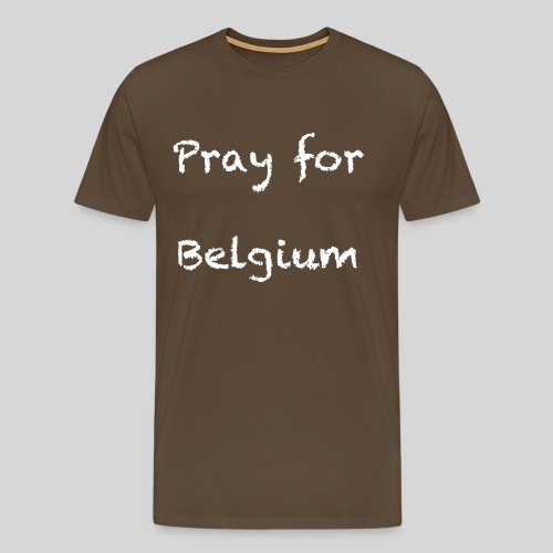 Pray for Belgium - T-shirt Premium Homme