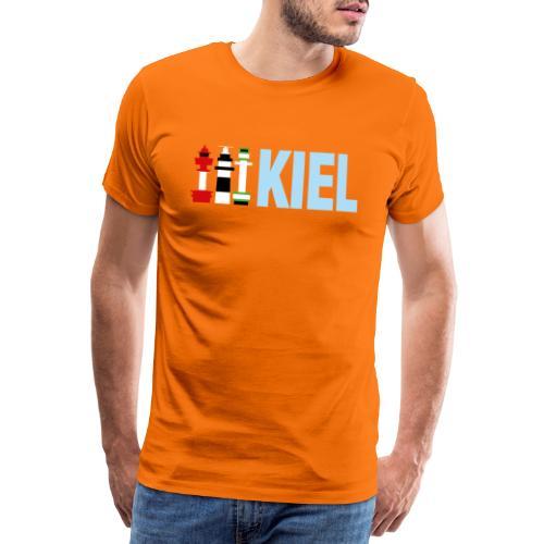 Drei Leuchttürme von Kiel - Männer Premium T-Shirt