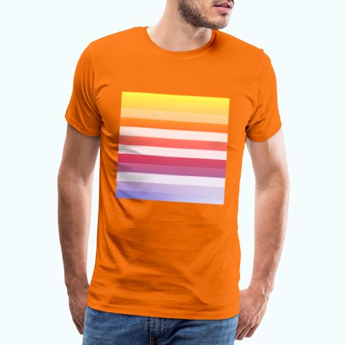 Rainbow Abstract Acrylic Painting - Men's Premium T-Shirt