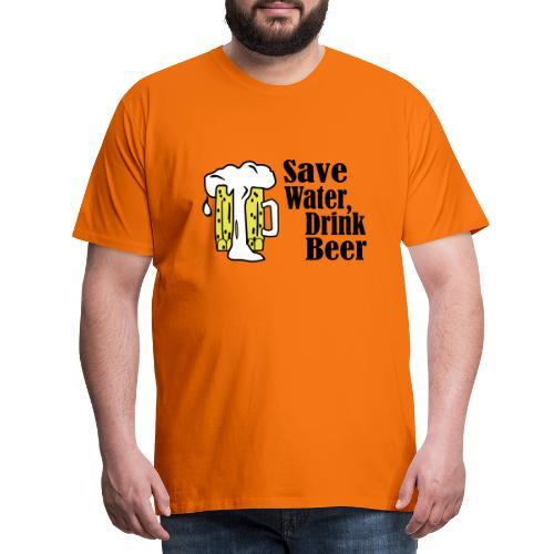 Cool save water drink beer design - Mannen Premium T-shirt