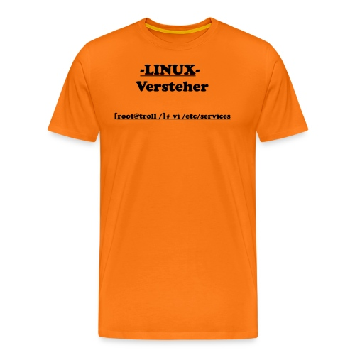 Linux-Versteher: VI - Männer Premium T-Shirt