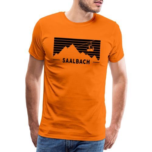 Saalbach Stripes - Mannen Premium T-shirt