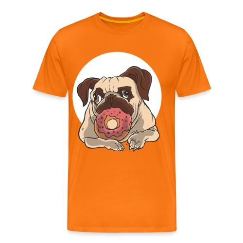 Mops und Donut - Männer Premium T-Shirt