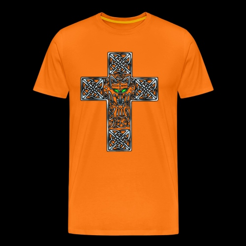 Wolf s Head Cross Silver - Men's Premium T-Shirt