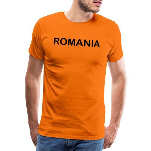 Schriftzug Romania - Männer Premium T-Shirt