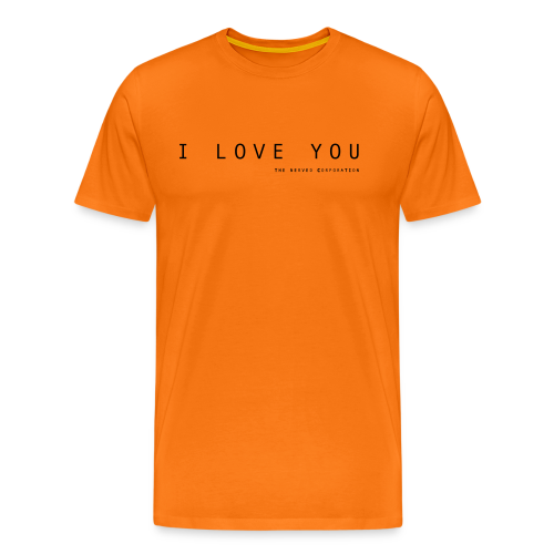 I Love You by The Nerved Corporation - Men's Premium T-Shirt