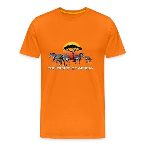 Spirit of Africa Zebra Afrika Sonne Savanne Safari - Men's Premium T-Shirt