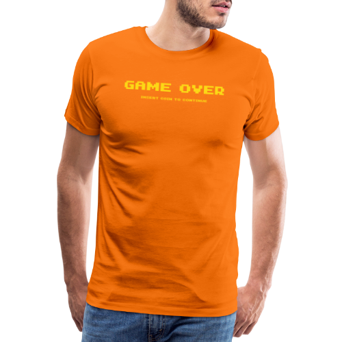 Game Over Insert Coin To Continue - Premium-T-shirt herr