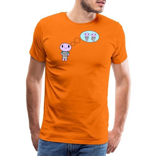 thinking ten on a t-shirt - Men's Premium T-Shirt