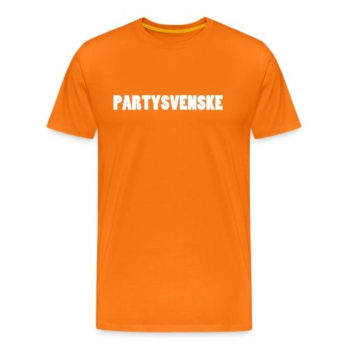 partysvenske - Premium T-skjorte for menn