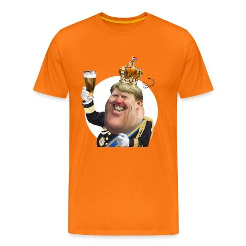 Koningsdag Willem-Alexander T-Shirt - Mannen Premium T-shirt