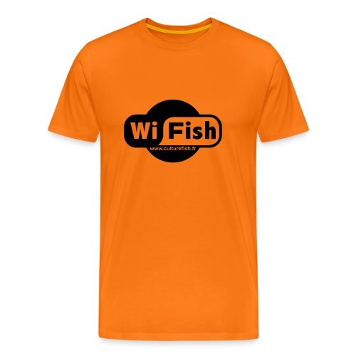 wifish black png - T-shirt Premium Homme